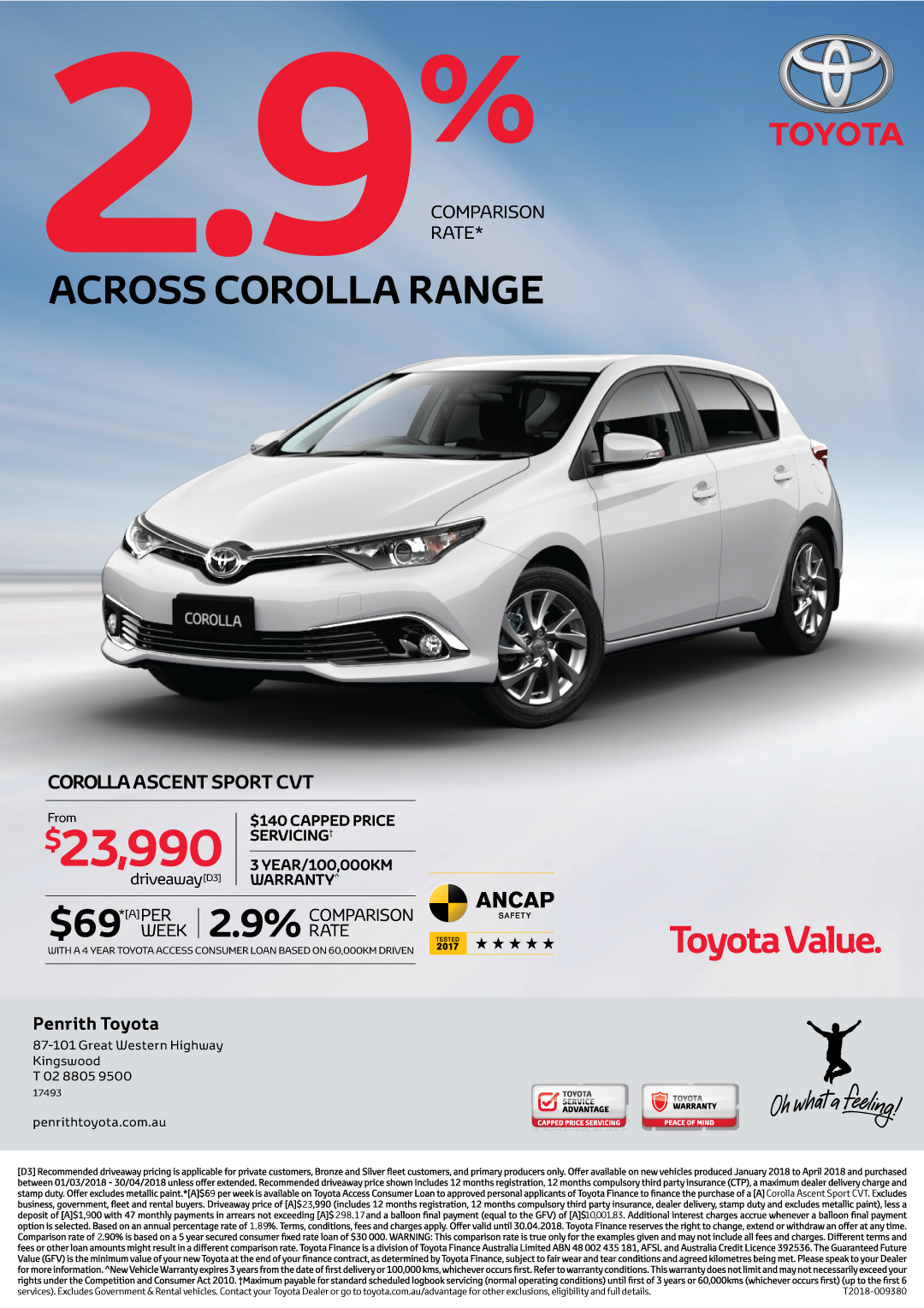 Toyota Corolla Ascent Sport on 2.9% Finance*