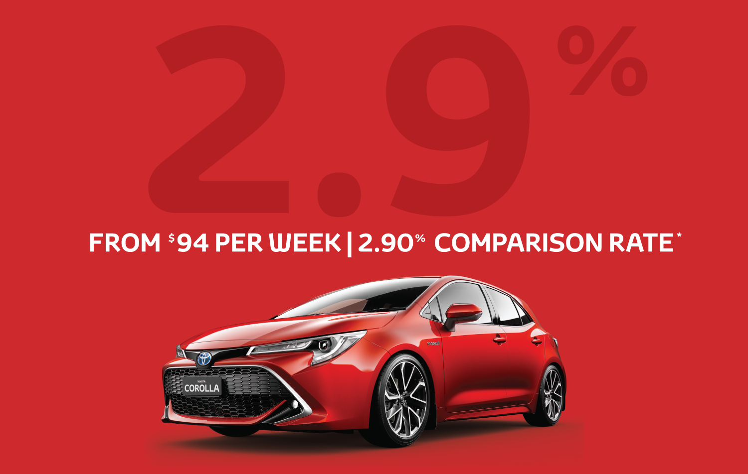 Toyota Corolla 4.9% Finance